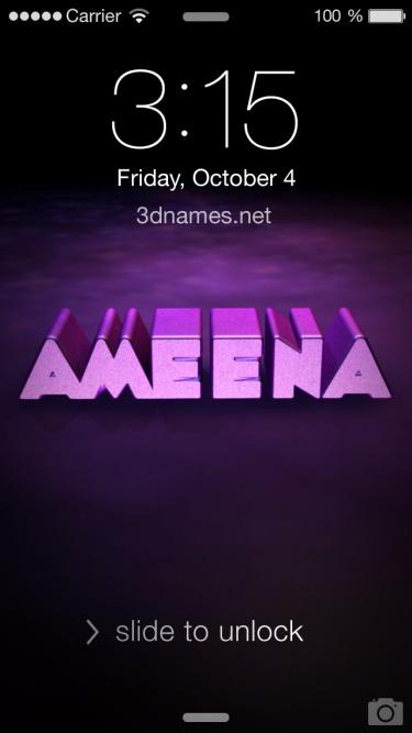 i love you ameena name