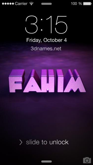 fahim name 3d
