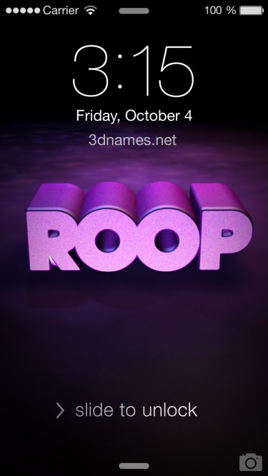 Preview of 'Big Purple' for name: Roop