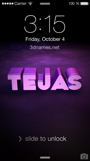 Tejas Name Wallpaper 3d