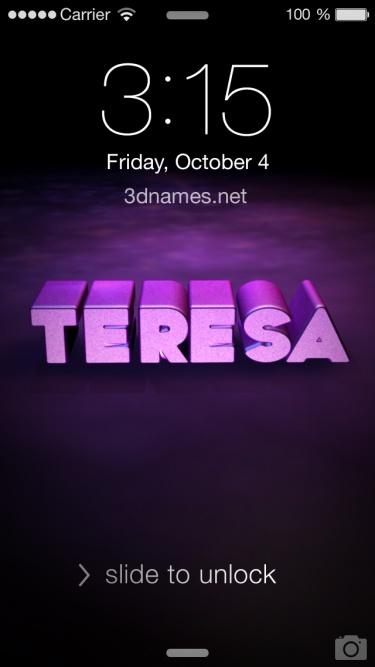 Preview of 'Big Purple' for name: Teresa