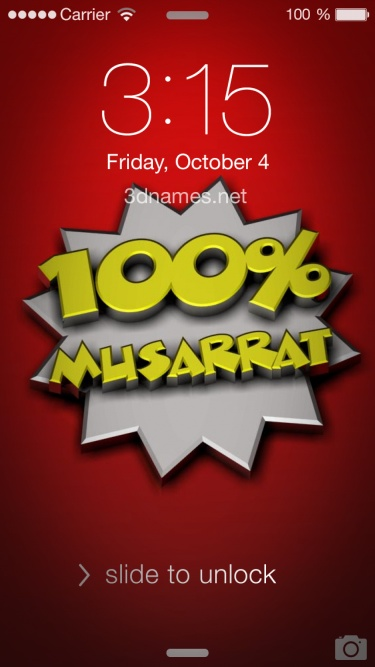 Preview of '100 Percent' for name: musarrat