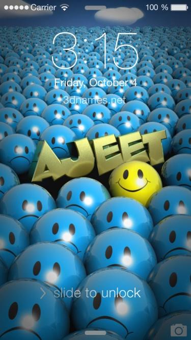 ajeet 3d name