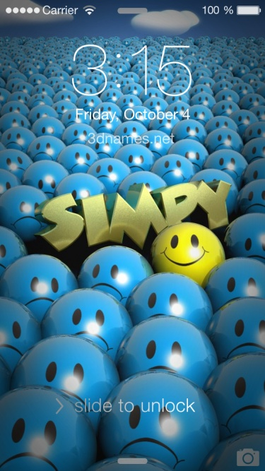 Preview of 'Special Smileys' for name: Simpy