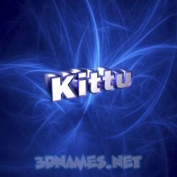 kittu name 3d