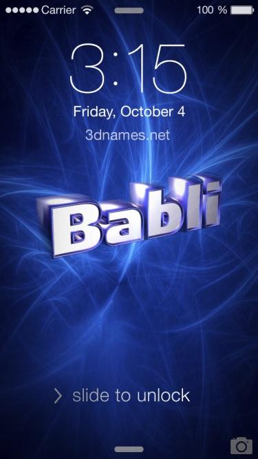 babli name