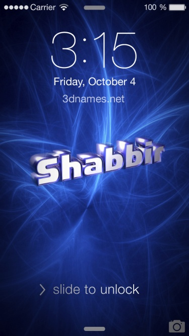 shabir name 3d