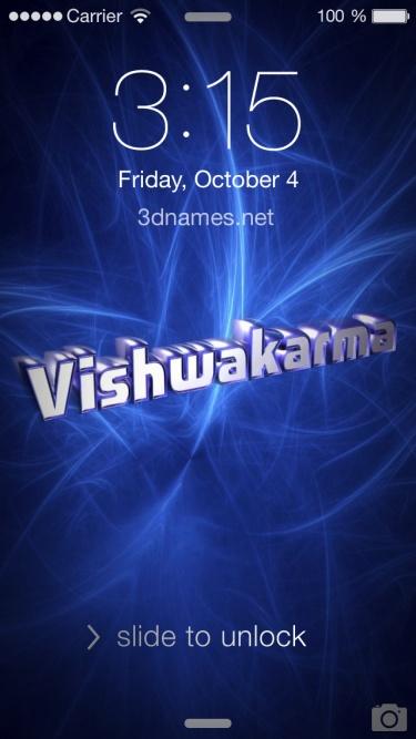 vishwakarma name 3d