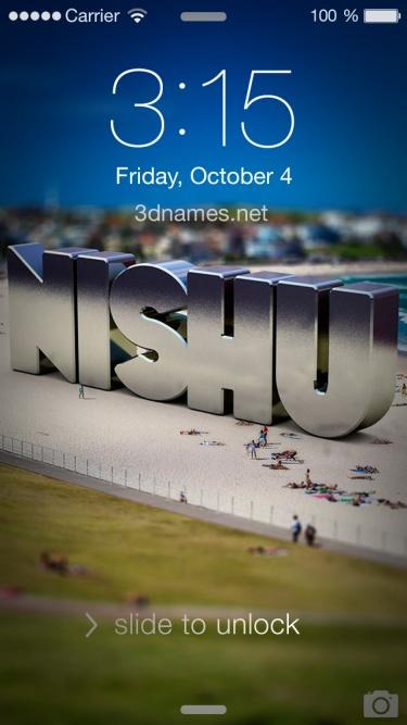 nishu 3d name