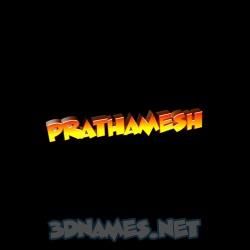 prathamesh name 3d