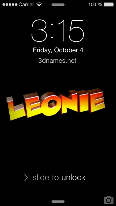 Preview of 'Black Background' for name: leonie